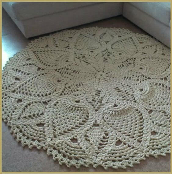How To Make Simple Crochet Rug Step By Step With Free Graphics
