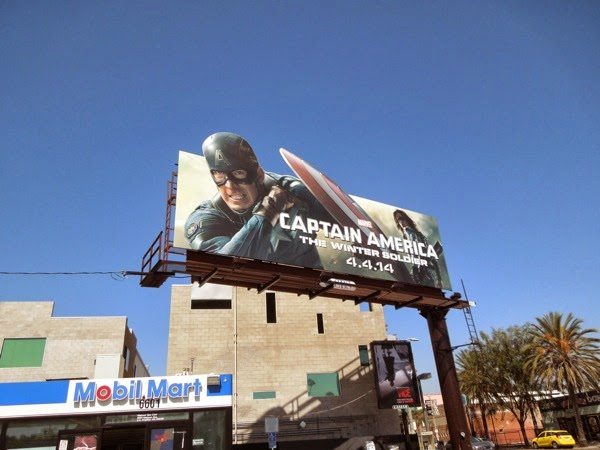 Captain America Winter Soldier special billboard