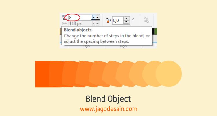 Mengenal Lebih Lanjut Blend Tool - Blend Object