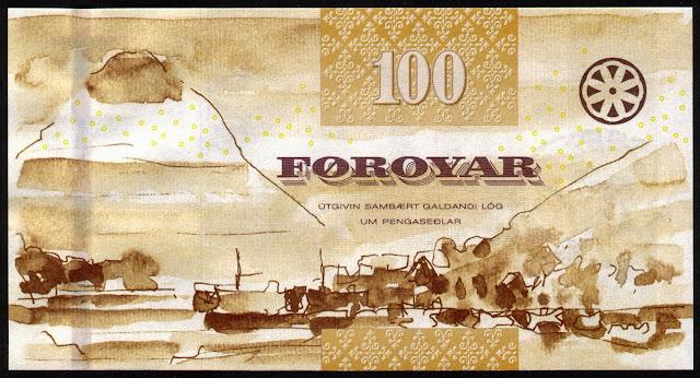 Faroese Banknotes 100 Krone banknote 2011 Klaksvik
