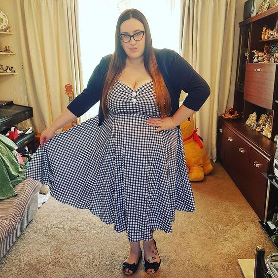 Collectif blue gingham Dolores plus size dress