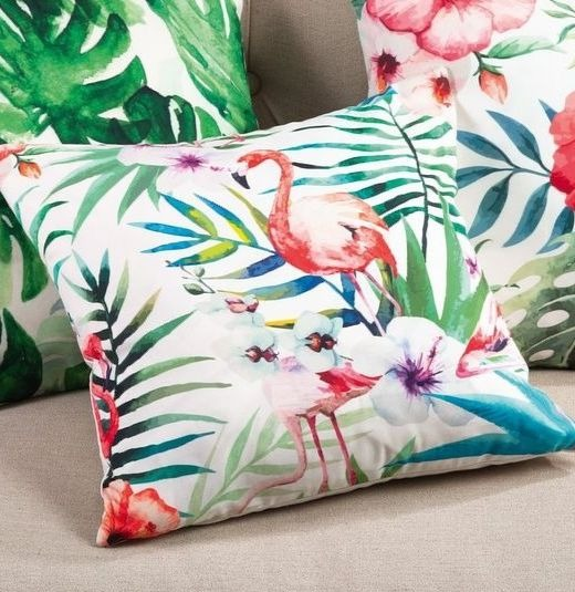 Tropical Palm Flamingo Pillows
