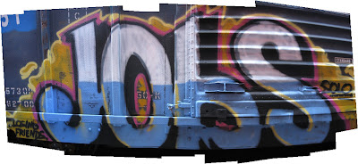 Image of graffiti art of the word 'Jobs'