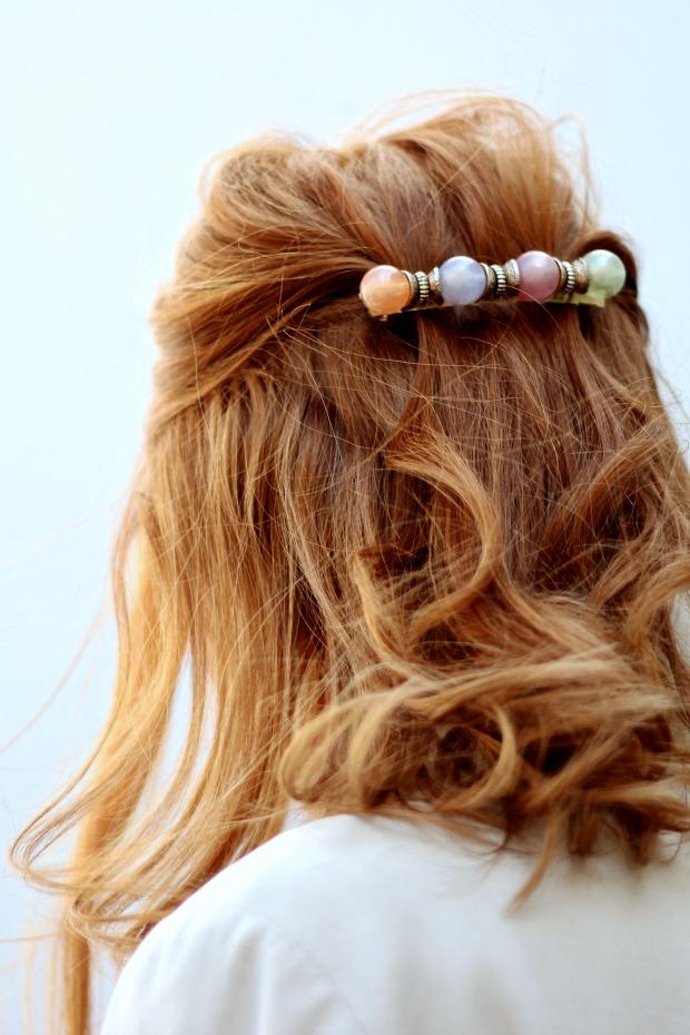 Vintage pastel hair clip