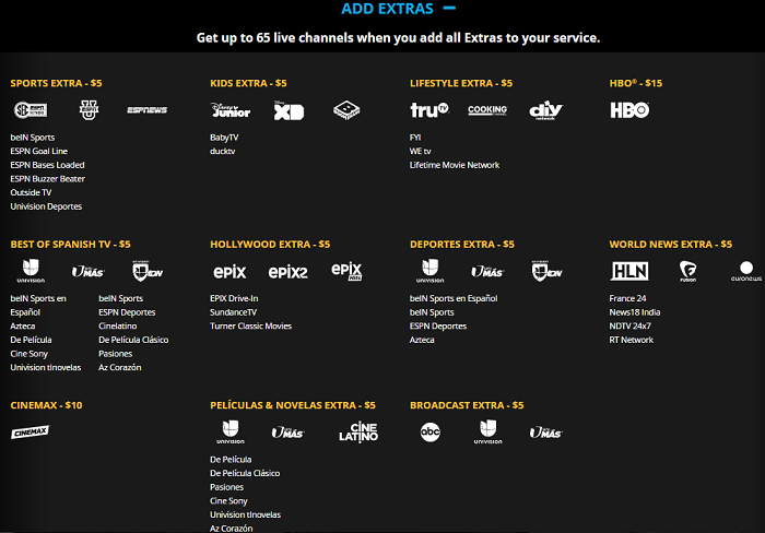Thoughts after a year of Sling TV - Extras available with Sling TV