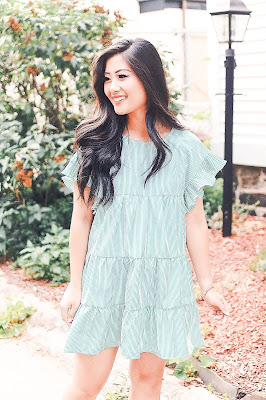 Jadoregrace.com // Pretty Green Peasant Frill Dress