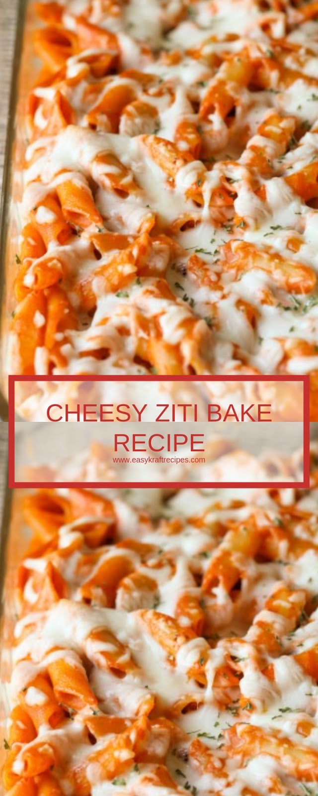 CHEESY ZITI BAKE RECIPE
