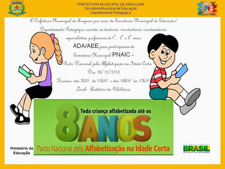 Pacto Nacional Pela Alfabetização Na Idade Certa Araguari