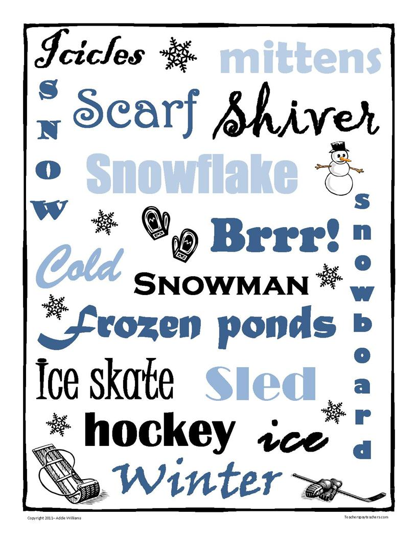 winter writing prompts elementary