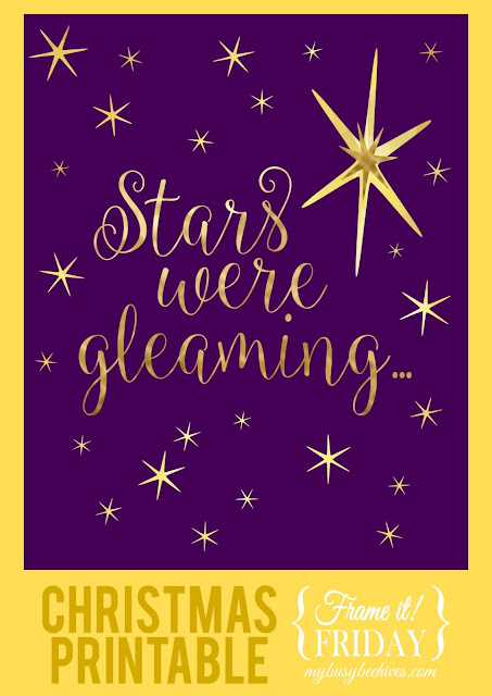 Stars Were Gleaming, a free Christmas printable