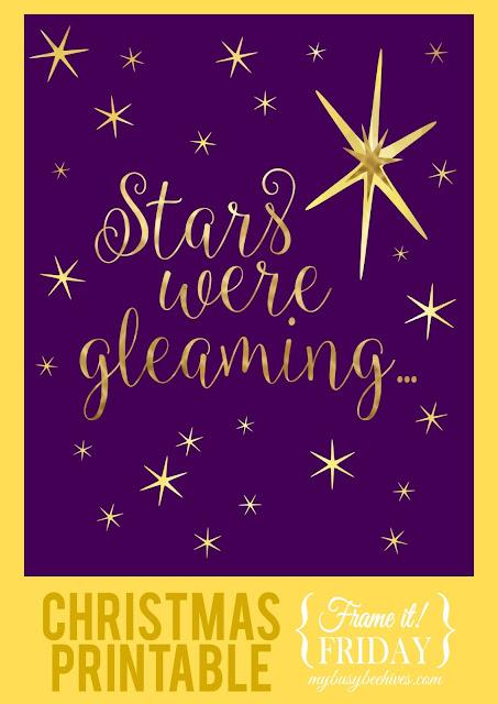 Stars Were Gleaming, a free Christmas printable