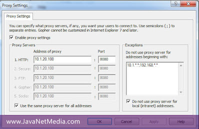 Cara Setting Proxy di Semua Profile User Login