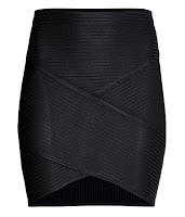 h&m fitted skirt black