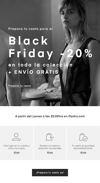 black friday en oysho