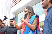 Puja Hegde looks stunning in Red saree at launch of Anutex shopping mall ~ Celebrities Galleries 145.JPG