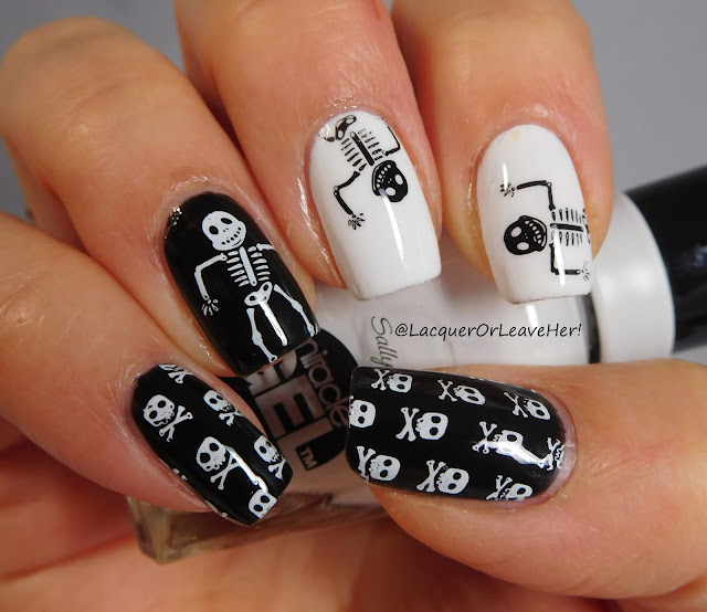 UberChic Beauty Halloween 03 over Sally Hansen Blacky O and Get Mod