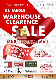 KL Mega Warehouse Clearance Sale offer