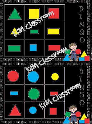 Shapes Bingo Game Sheet