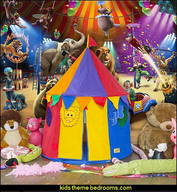 Circus Wall Mural-circus tent play tent-circus themed playroom decorating ideas
