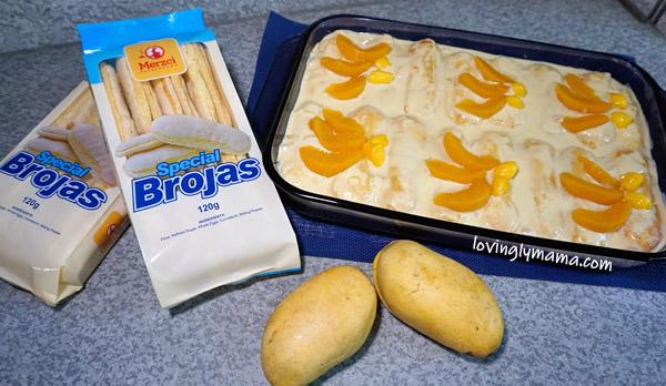 peach mango ice box cake recipe - merzci pasalubong brojas - filipino dessert - homecooking