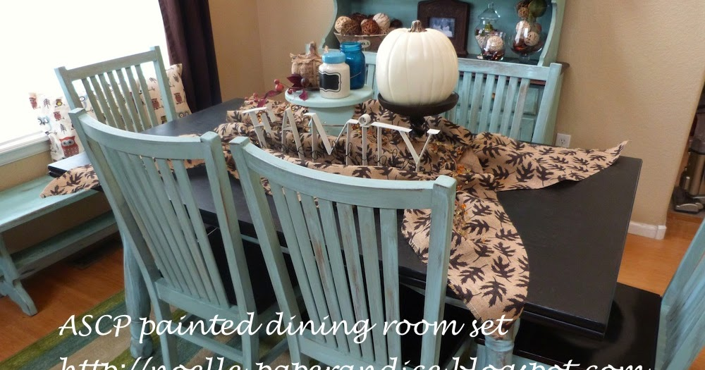 """Paper & ICE: My """"new"""" Chalk Painted Dining Room Set"""