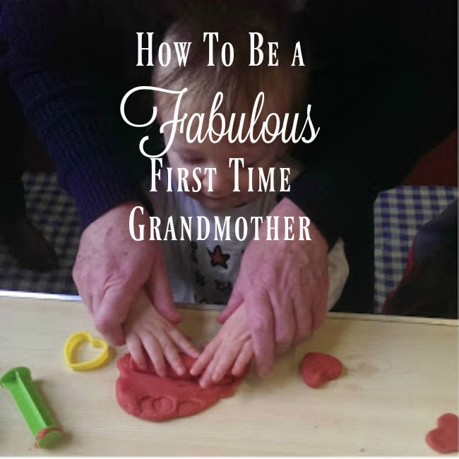 How-to-be-a-fabulous-first-time-grandmother-text-over-image-of-toddler-with-old-hands-on-his
