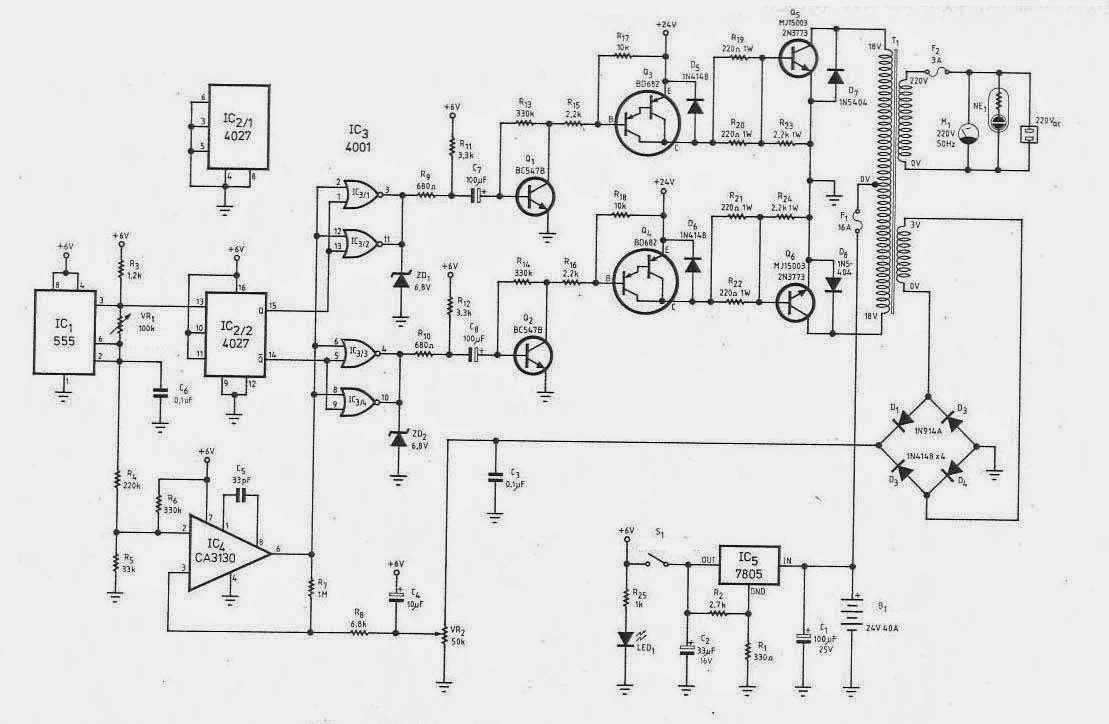 Scheme si montaje electronice : Invertor 12VCC>230VCA