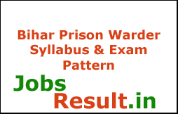 Bihar Prison Warder Syllabus & Exam Pattern