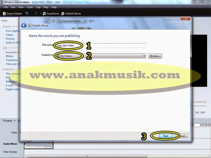 5. Cara Mudah Menggabungkan Lagu dan Video di Movie Maker