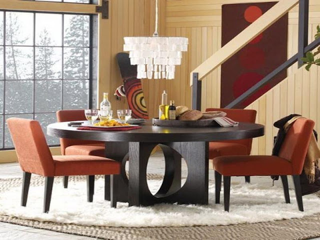 Modern Room with Round Dining Tables Modern Room with Round Dining Tables modern round dining room tables on other for table good 1