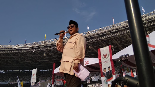 Pesan Prabowo Sebelum Masa Tenang: Jaga TPS!