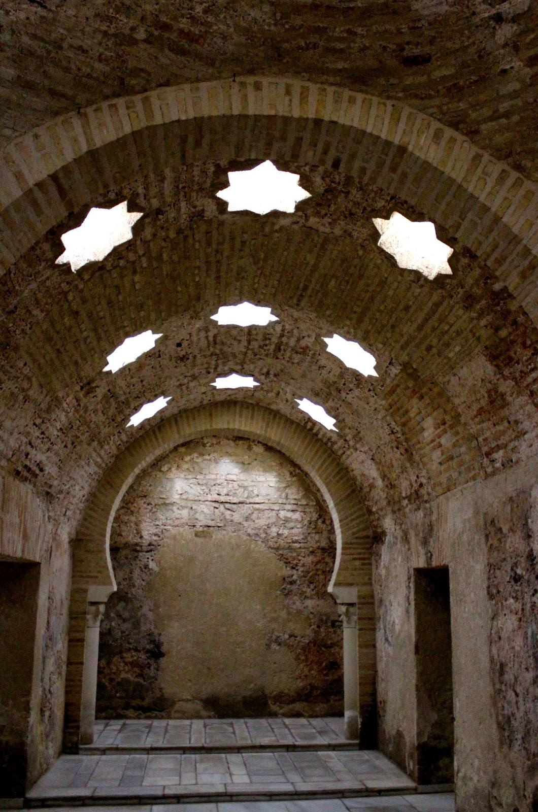 Sala Fría de los baños Árabes de Jaén