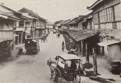 Undated photo of the old Calle Colon in Cebu City