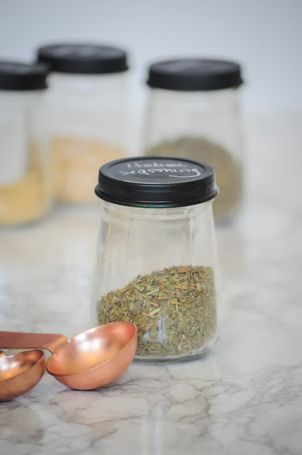 DIY Chalk Spice Jars