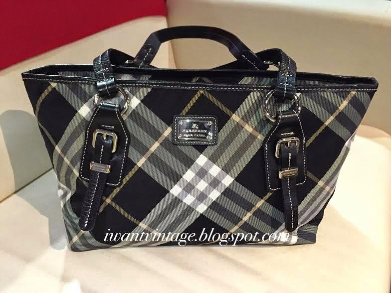 Burberry Blue Label Top Handle Bag Black