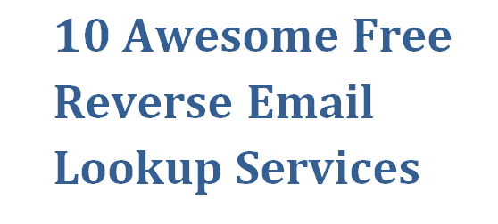 Free Reverse Email Search Hookup Sites