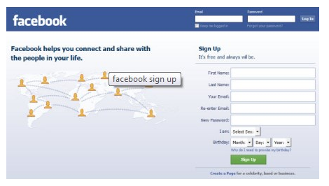 facebook com login in page