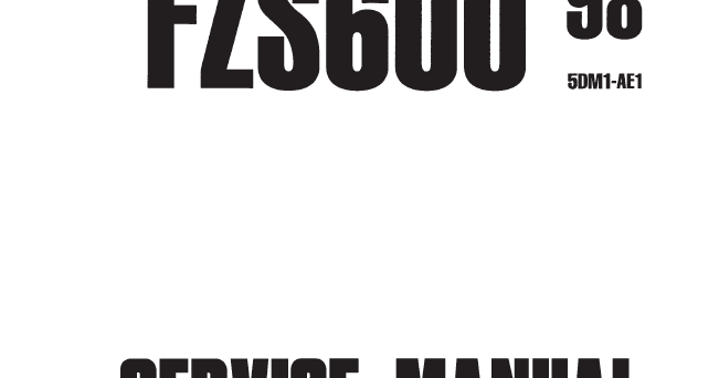 Yamaha FZS600 Fazer Service Manual