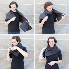 Last minute DIY cozy cowl