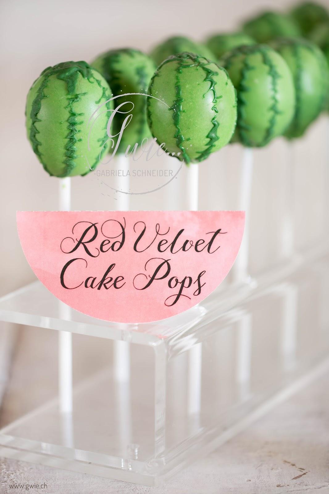 G wie 4 geburtstag von enya wassermelonen sweet table - Cake pops 50 geburtstag ...