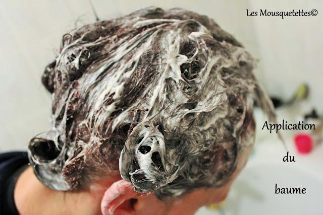 Application du baume capillaire - Color et Soin - Laboratoire les 3 Chênes - Les Mousquetettes©