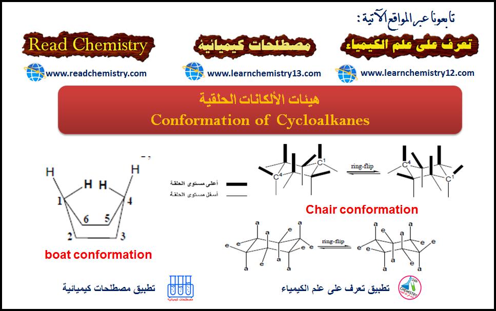 هيئة الألكانات الحلقية Conformation Of Cycloalkanes تعرف على علم الكيمياء