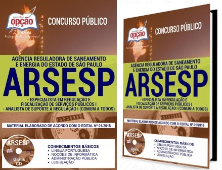 Apostila para o Concurso Arsesp 2018 para Analistas e Especialistas