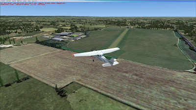 Flyover of Thame airfield on FSX