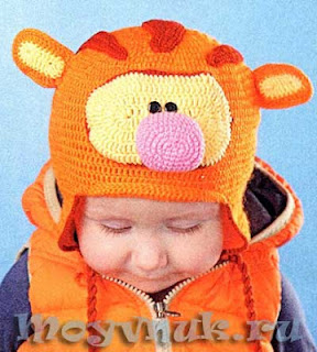 Шапочка для мальчика Тигр