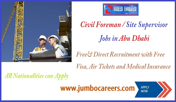 Abu Dhabi jobs for construction company,construction company job description Abu Dhabi,