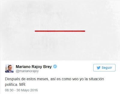 Tuit línea roja Rajoy