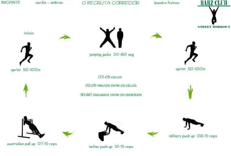Suficiente Barz Club Street Workout: Street Workout Iniciante - Treino O  KZ47