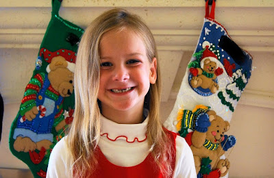 Cute Christmas Card Picture with no front teeth