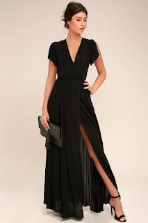 image result lulus wrap maxi dress